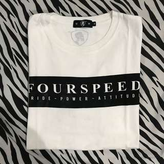 Kaos lengan pendek putih fourspeed original sz m