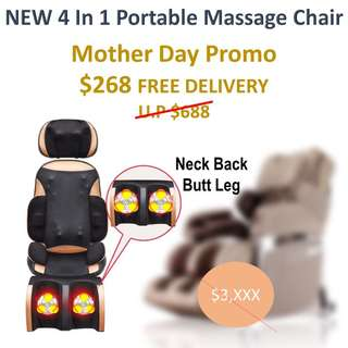 NEW 4 in 1 Portable Massage Chair