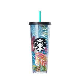 🆕Starbucks® 24oz Tropical Leaf Cold Cup