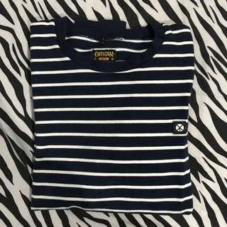 Origin sweatshirt crewneck navy stripe size l