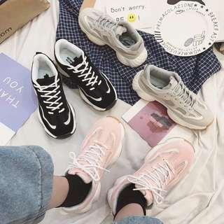 韓版 百搭款學生厚底運動鞋