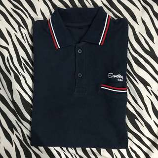 Polo shirt something clothes navy size l