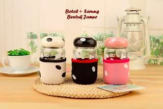 Botol Kaca Mini Jamur 300 ml