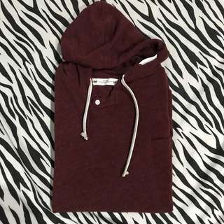 Obs! Clothes hoodie merah maroon size xl