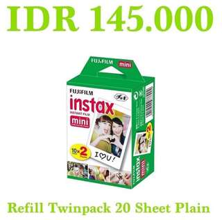 Refill Instax Twinpack Plain 20 Sheet for Instax/Polaroid Mini