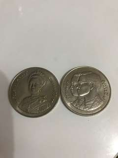 THAILAND 10 BAHT for King and Queen