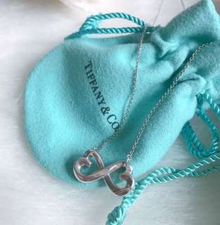 Tiffany Necklace Infinity Logo Silver 925