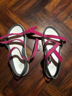 Crocs Swiftwater Webbing Pink Sandals