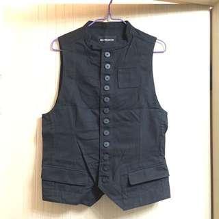 Ann demeulemeester vest size Xs black