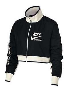Cropped Nike track jacket- large