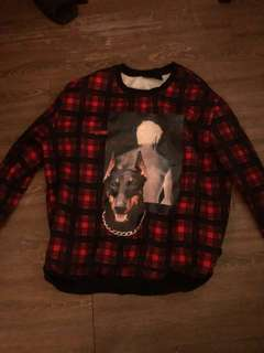 Givenchy Givenchy Plaid Doberman Sweater