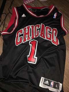 NBA 公牛rose 1號背心