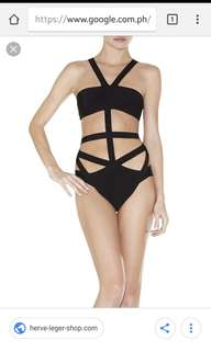 herve leger inspired swimsuit