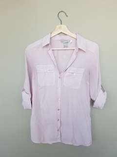 H&M Blush button down shirt