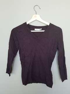 Dynamite Brown v-neck sweater