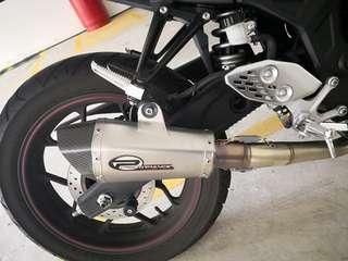 Performance full system exhaust Yamaha R25