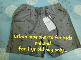 urban pipe shorts for kids