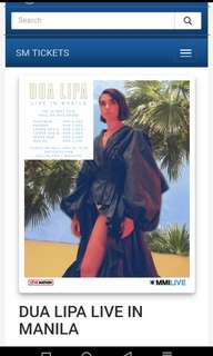 LOOKING FOR DUA LIPA TIX LB A OR B SWAP TO UB