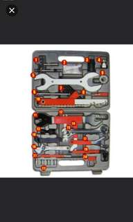 Brand New Universal 44pcs Bicycle Repair Toolbox Toolset Tools Kit for all types of bicycle/mtb