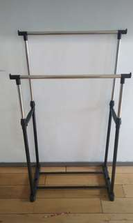 Double Pole Cloths Rack stand
