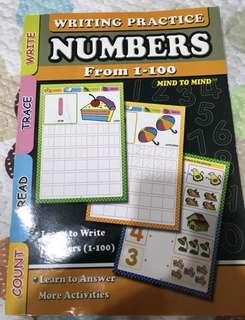 Writing Practice Numbers 1-100 for young kids