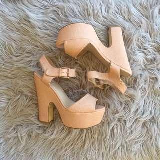 Peach Verali Heels