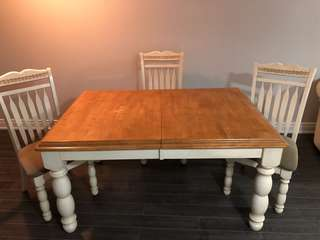 Dinner kitchen table with 6 chairs