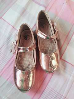 Gold Fancy dollshoes