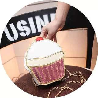 Cute fashion cupcake food sling bag
