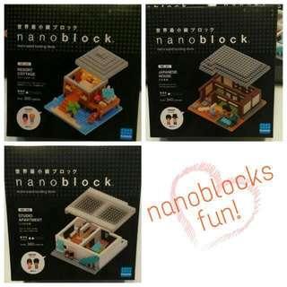 Nano block toy building houses