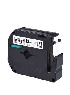 Black on White Label Tape Compatible for Brother PT-65/PT-70/PT80 Label Printer 12mm * 8m