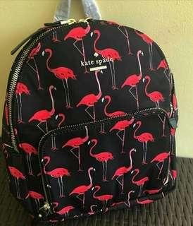 Flamingo kate spade backpack