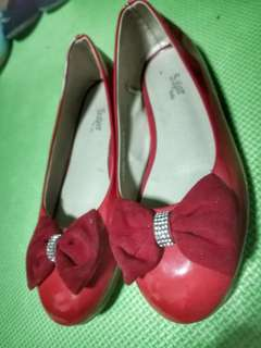 red dollshoes