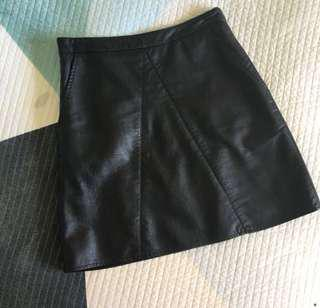Glassons leather skirt size 6