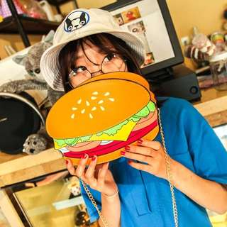 Cute fashion hamburger food sling bag
