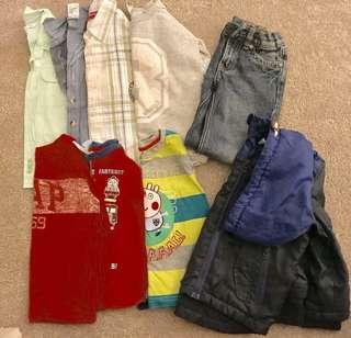 Bulk Lot Size 2-3 Boys Clothing EUC Bonds, GAP, Sprout & Freshly Baked Included!