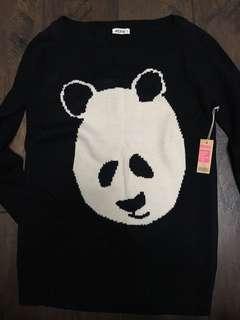 Large Ardene Panda sweater