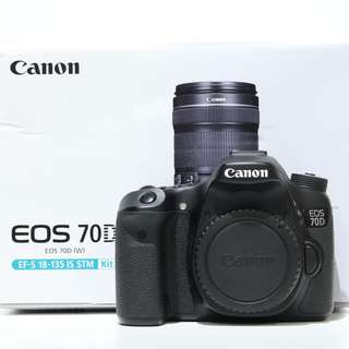 Canon EOS 70D Body Only  (SC: 6K+ Only)
