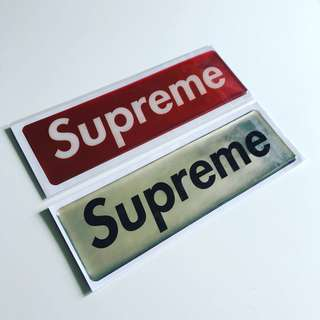 Supreme Plastic Sticker