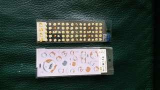 Sanrio Stickers San-X 松鼠 貼紙 2張 款4