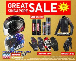 Sun Visor Helmet Armour Riding Jacket Knuckles Riding Gloves Chain Lube Chain Cleaner Great Singapore Sale
