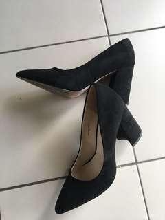 Zalora Microfibre Block Heels