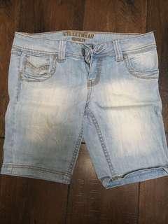 Blue long shorts size 7