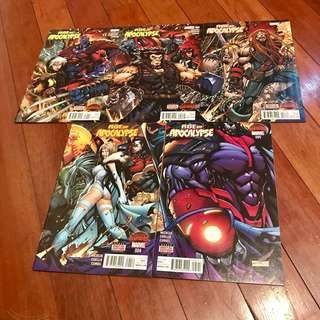 Marvel Comics Secret Wars 2015 X-Men Age of Apocalypse Mini-Series #1-5 Complete Set VF/NM