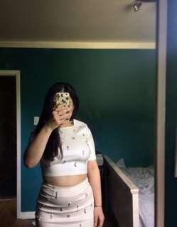 Honey bought Two piece dress / crop top / pencil skirt