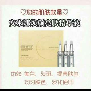 🎀Anmyna Brightening Face Essence🎀  Even out skin complexion for bright and translucent skin  Moisture is locked in the gaps within layers of skin while collagen is replenished to achieve tender and elastic skin.