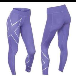 2XU purple tights
