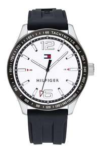 BRAND NEW TOMMY HILFIGER MEN's Silicone Watch, 44mm