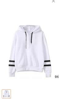 White korean hoodie jacket