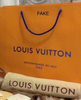LOUIS VUITTON LV PAPER BAG: FAKE OR ORIGINAL